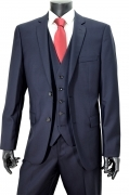 HUGO BOSS SELECTION ABITO CON GILE' BLU RIGATORE GULAR FIT 50218153 TG. 50