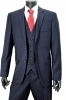 HUGO BOSS SELECTION ABITO CON GILE\' BLU RIGATORE GULAR FIT 50218153 TG. 50