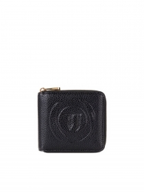 TRUSSARDI JEANS Portafoglio DONNA Faith medium in similpelle con logo BLACK