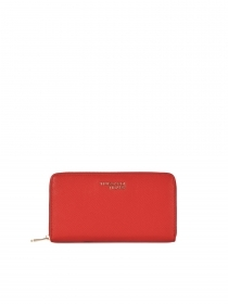 TRUSSARDI JEANS Portafogli DONNA T-Easy light in similpelle a tre tasche RED