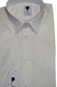 DE LAMP CAMICIA UOMO MOD, SLIM FIT ART. 0999 BIANCO TESS. ELASTIC MADE IN ITALY