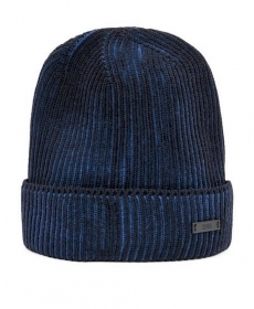 HUGO BOSS Cappello in lana vergine bicolore DARK BLU Ebalerio - 50392074