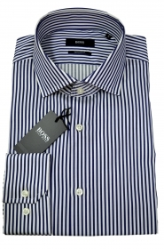HUGO BOSS Camicia regular fit a righe in twill di cotone Gordon 50415552