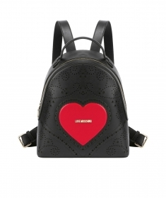 LOVE MOSCHINO ZAINO HEART EMBR