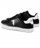 TRUSSARDI JEANS P/E20 SNEAKERS ECOLEATHER BLACK RUBBER PATCH WHITE 77A00241