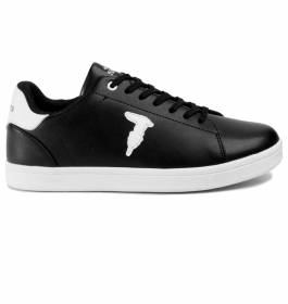 TRUSSARDI JEANS P/E20 SNEAKERS ECOLEATHER RUBBER PATCH BLACK 77A00241