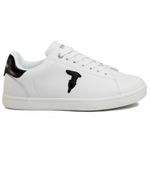 TRUSSARDI JEANS P/E20 SNEAKERS ECOLEATHER RUBBER PATCH WHITE 77A00241