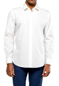 HUGO BOSS CAMICIA UOMO MOD ELIOTT Regular-Fit Facile stiro BIANCO 50427520