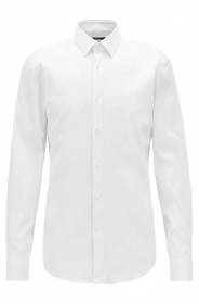 HUGO BOSS CAMICIA UOMO MOD ISKO SLIM Fit Facile stiro BIANCO 50427541