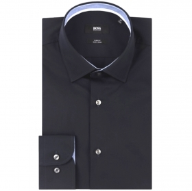 HUGO BOSS CAMICIA UOMO MOD JORAM Slim Fit Facile stiro Blu 50427552
