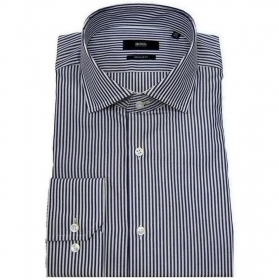 HUGO BOSS Camicia regular fit in cotone a righe Modello Gordon  50418530