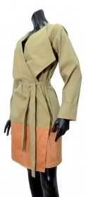LISA KOTT TRENCH DONNA CURVY STYLE COLORE SALVIA E22881 MADE IN ITALY