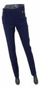 LISA KOTT PANTALONE DONNA CURVY STYLE 13495 COLORE BLU MADE IN ITALY