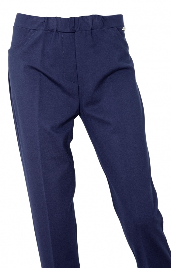 LISA KOTT PANTALONE DONNA CURVY STYLE 4325 COLORE BLU MADE IN ITALY