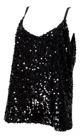 LISA KOTT TOP DONNA PAILLETTES LINE