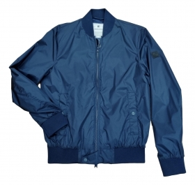 WOOLRICH BOMBER UOMO Men's Shore Bomber Jacket Colore: PEACOAT BLUE