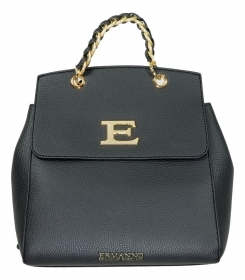 ERMANNO SCERVINO ZAINO BACKPACK EBA WINTER PLAIN 12401035 BLACK