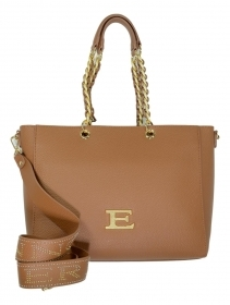 ERMANNO SCERVINO BORSA DONNA TOTE EBA WINTER PLAIN 12401031 TAN