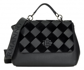 ERMANNO SCERVINO BORSA DONNA FLAP EBA WINTER WOVEN 12401040 BLACK