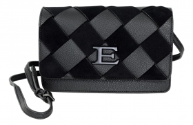 ERMANNO SCERVINO BORSA DONNA CROSSBODY FLAP EBA WINTER WOVEN 12401043 BLACK