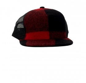 WOOLRICH BASKETBALL CAP Colore: RED BLACK BUFFALO WOACC1636