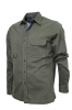 BASTONCINO CAMICIA OVER UOMO SLIM FIT  WASHED FIL02 FATTA IN ITALIA