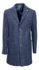 ALESSANDRO GILLES CAPPOTTO UOMO EXTRA SLIM FIT BLU TESSUTO BOUCLE ART. 2586