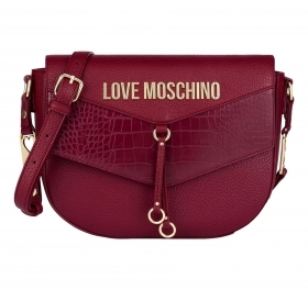 LOVE MOSCHINO BORSA A TRACOLLA HEART ON STRAPS JC4287PP0BKP150A BORDEAUX