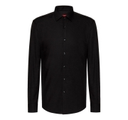HUGO BOSS CAMICIA SLIM FIT IN COTONE 50289499 COLORE NERO C-Jenno by HUGO