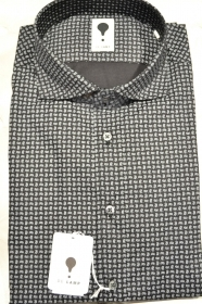 CAMICIA UOMO DE LAMP MOD. SLIM FIT FANTASIA ELAST. 1210 - SHIRT MADE IN ITALY