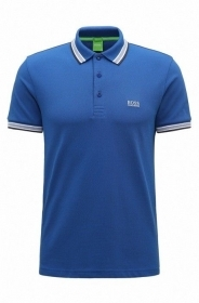 HUGO BOSS POLO UOMO REGULAR-FIT MOD. PADDY IN PIQUE' COLORE BLUET 50198254