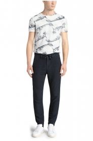 HUGO BOSS Pantaloni tapered fit in lino: 'Seth-D' by BOSS Orange PANTALACCIO