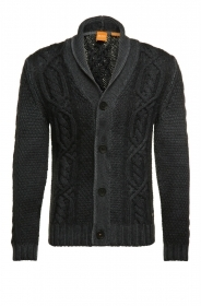 HUGO BOSS Cardigan in lana con colletto sciallato: 'Klamell' by BOSS Orange