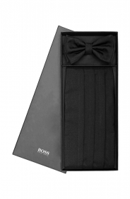 HUGO BOSS Set regalo 'Set bow tie + cumm FASCIA DA SMOKING PIU' PAPILLON SETA