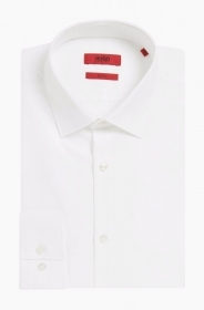 HUGO BOSS Camicia slim fit cotone tinta unita BIANCO C-Jenno' by HUGO 50289499
