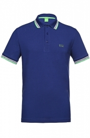 HUGO BOSS POLO UOMO REGULAR-FIT MOD. PADDY IN PIQUE' COLORE BLUETT 486