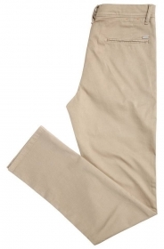 HUGO BOSS Orange Chino slim fit in cotone con elastan: 'Schino-Slender-D' BEIGE