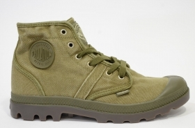 PALLADIUM PALLABROUSE Style 02477-326-M CANVAS PACAL0005 UOMO DK OLIVE/DK GUM