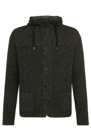HUGO BOSS Cardigan regular fit in misto lana con lino: 'Korpa' by BOSS Orange