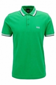 HUGO BOSS POLO UOMO REGULAR-FIT MOD. PADDY IN PIQUE' COLORE VERDE 50302557
